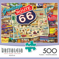 Nostalgia Kate Ward Thacker Route 66 500 Piece Jigsaw Puzzle Box