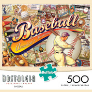 Nostalgia Kate Ward Thacker Baseball 500 Piece Jigsaw Puzzle