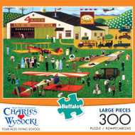 Charles Wysocki Four Aces Flying School 300 Large Piece Jigsaw Puzzle Box