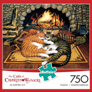The Cats of Charles Wysocki: All Burned Out 750 Piece Jigsaw Puzzle