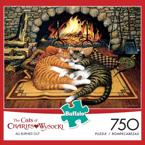 The Cats of Charles Wysocki: All Burned Out 750 Piece Jigsaw Puzzle Box