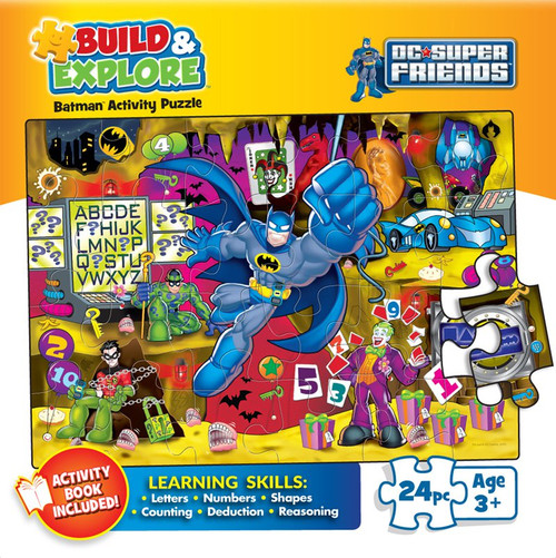 Build & Explore: Trouble In The Batcave Children's Jigsaw Puzzle Box