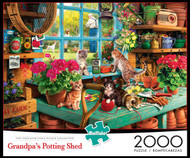 Grandpa's Potting Shed 2000 Piece Jigsaw Puzzle Box