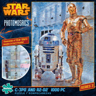 Star Wars: C-3PO and R2-D2 1000 Piece Photomosaic Jigsaw Puzzle