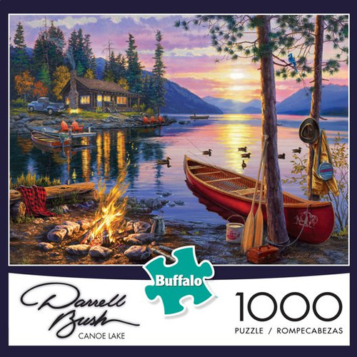 Darrell Bush Canoe Lake 1000 Piece Jigsaw Puzzle Box