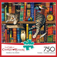 The Cats of Charles Wysocki: Frederick the Literate 750 Piece Jigsaw Puzzle