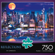 Reflections NYC Supermoon 750 Piece Jigsaw Puzzle Box