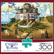 Charles Wysocki A Delightful Day on Sparkhawk Island 300 Large Piece Jigsaw Puzzle Box