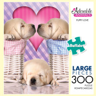 Adorable Animals Puppy Love 300 Large Piece Jigsaw Puzzle Box