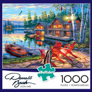 Darrell Bush Loon Lake 1000 Piece Jigsaw Puzzle