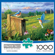 Hautman Brothers Nesting Bluebirds 1000 Piece Jigsaw Puzzle Box