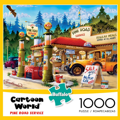 Cartoon World Pine Road Service 1000 Piece Jigsaw Puzzle Box