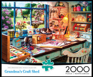 Grandma's Craft Shed 2000 Piece Jigsaw Puzzle Box