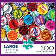 Soda Bottle Caps 300 Large Piece Jigsaw Puzzle Box