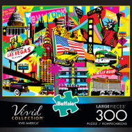 Vivid America 300 Large Piece Jigsaw Puzzle Box