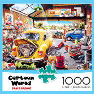 Cartoon World Sam's Garage 1000 Piece Jigsaw Puzzle Box
