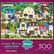Charles Wysocki Shops & Buggies 500 Piece Jigsaw Puzzle Box