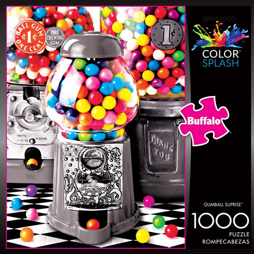 Color Splash Gumball Surprise 1000 Piece Jigsaw Puzzle Box