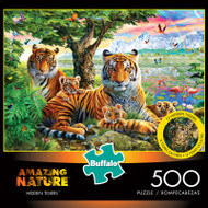 Amazing Nature Hidden Tigers 500 Piece Jigsaw Puzzle