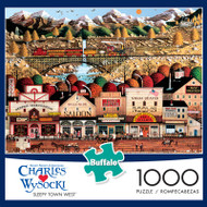 Charles Wysocki Sleepy Town West 1000 Piece Jigsaw Puzzle Box