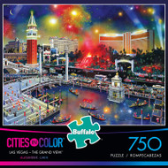 Cities in Color Las Vegas - The Grand View 750 Piece Jigsaw Puzzle