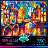 Cities in Color Amsterdam 750 Piece Jigsaw Puzzle