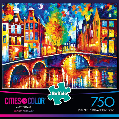 Cities in Color Amsterdam 750 Piece Jigsaw Puzzle Box
