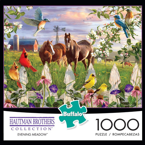 Hautman Brothers Evening Meadow 1000 Piece Jigsaw Puzzle Box