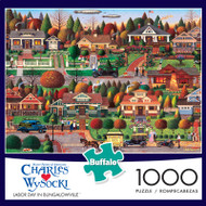 Charles Wysocki Labor Day in Bungalowville 1000 Piece Jigsaw Puzzle Box