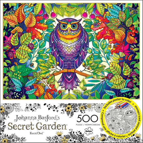 Johanna Basfords Forest Owl 500 Piece Jigsaw Puzzle Box