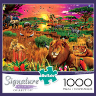 African Evening 1000 Piece Jigsaw Puzzle Box