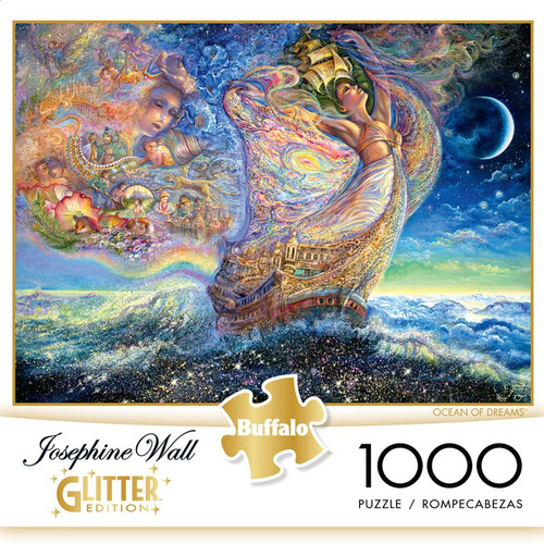 Josephine Wall Ocean of Dreams Glitter 1000 Piece Jigsaw Puzzle Box