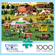 Charles Wysocki Rally at Dandelion Mill 1000 Piece Jigsaw Puzzle Box