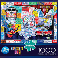 Collage Crazy Explore the USA 1000 Piece Jigsaw Puzzle