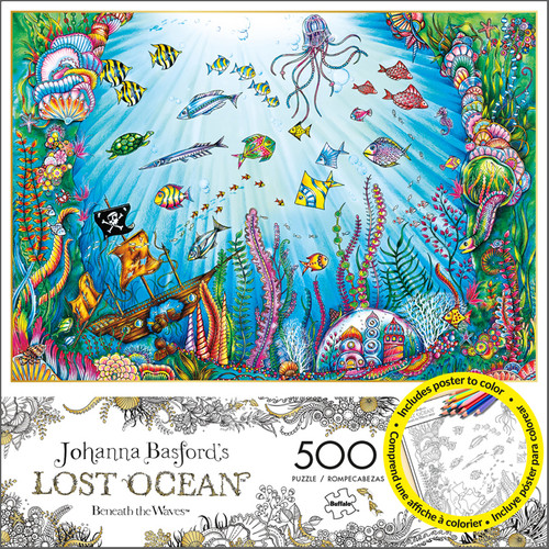 Johanna Basfords Lost Ocean Beneath The Waves 500 Piece Jigsaw Puzzle Box