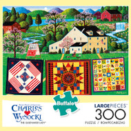 Charles Wysocki The Quiltmaker Lady 300 Large Piece Jigsaw Puzzle Box