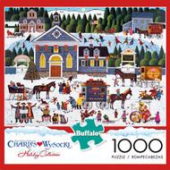 Charles Wysocki Churchyard Christmas 1000 Piece Jigsaw Puzzle Box