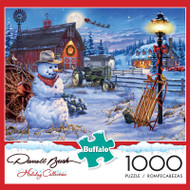 Darrell Bush Country Christmas 1000 Piece Jigsaw Puzzle Box