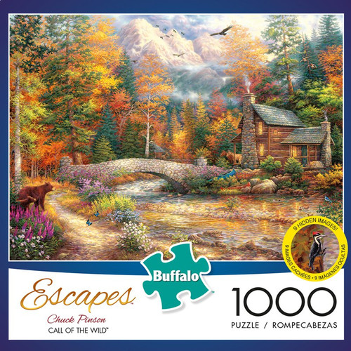 Escapes by Chuck Pinson Call of the Wild 1000 Piece Jigsaw Puzzle Box