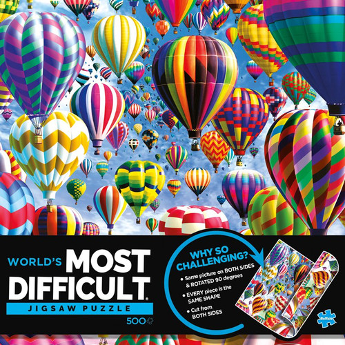World's Most Difficult Jigsaw Puzzle - Balloons 500 Piece Jigsaw Puzzle Box