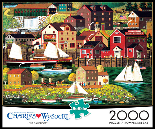 Charles Wysocki The Cambridge 2000 Piece Jigsaw Puzzle Box