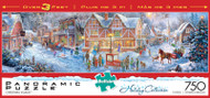 Christmas Village 750 Piece Panoramic Jigsaw Puzzle Box