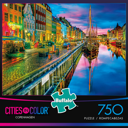 Cities in Color Copenhagen 750 Piece Jigsaw Puzzle Box