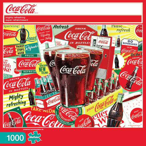 Coca-Cola Mighty Refreshing 1000 Piece Jigsaw Puzzle Box