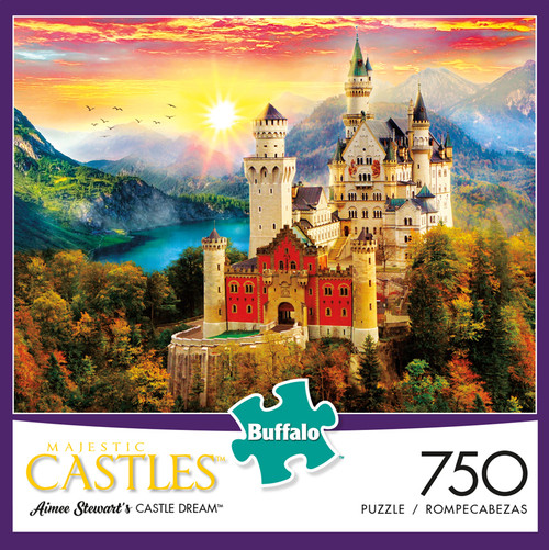 Majestic Castles: Aimee Stewart's Castle Dream 750 Piece Jigsaw Puzzle Box
