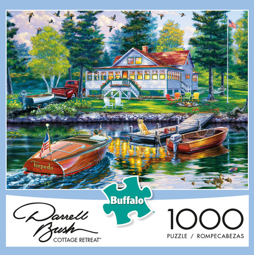 Darrell Bush Cottage Retreat 1000 Piece Jigsaw Puzzle Box