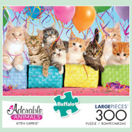 Adorable Animals Kitten Surprise 300 Large Piece Jigsaw Puzzle Box