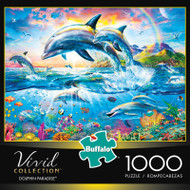 Vivid Collection: Dolphin Paradise - 1000 Piece Jigsaw Puzzle