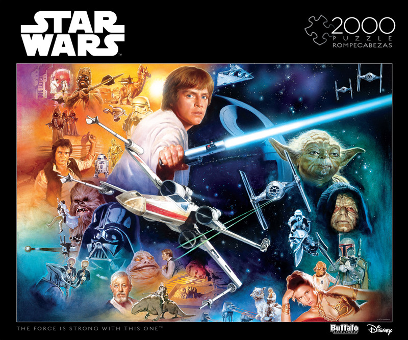 star wars the force is strong with this one 2000 piece jigsaw puzzle buffalo games. Black Bedroom Furniture Sets. Home Design Ideas