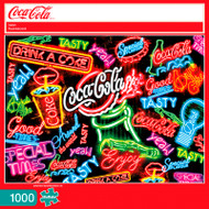 Coca-Cola Neon 1000 Piece Jigsaw Puzzle Box